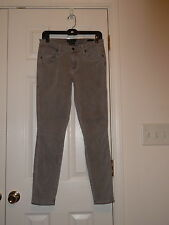GENETIC DENIM CINDER GRAY THE SHYA SKINNY CROPPED CAPRIS STRETCH JEANS SIZE 28