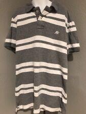 Aeropostale Mens Collared Shirt Extra Small Gray Striped    E41