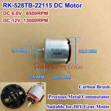 DC 6V-12V 13000RPM RK-528TB-22115 Carbon Brush Small 33mm Micro DC Motor