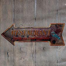 Metal Tin Sign restaurant fresh sea food Bar Pub Vintage Retro Poster Cafe ART