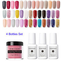 4Pcs/Set NICOLE DIARY Dipping Powder Nail Starter Kit Tips Nail Art Liquid Gel