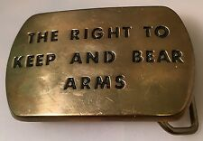 The Right To Keep And Bear Arms Vintage Solid Brass Belt Buckle (BBB)
