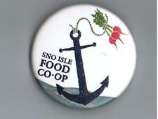 "Sno Isle Food Co-Op 1.75"" Pinback Button Advertising Everett Washington Anchor"