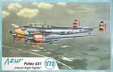 "POTEZ 631 ""FRENCH NIGHT FIGHTER""  AZUR 1/72 PLASTIC KIT"
