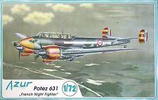 "POTEZ 631 ""FRENCH NIGHT FIGHTER""  AZUR 1/72 PLASTIC KIT"