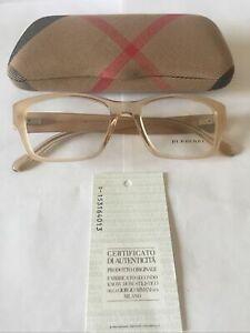 New Ladies Burberry Ophthalmic  Frame Model OBE2127  Colour 3377 Light Opal