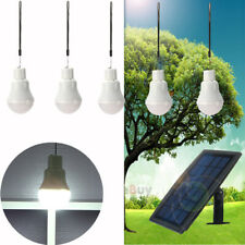 Rechargeable Solar Panel Powered Led Bulb Lamp Home Camping Emergency Light
