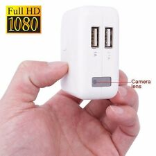 1080P USB Wall Charger Spy Hidden Camera DVR Recorder Motion Detection US/EU