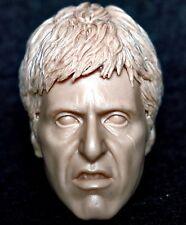 "1/6 scale resin unpainted action figure head sculpt al pacino scarface 12"" cast"