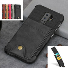 Shockproof PU leather Wallet Card Slots Case Cover For Samsung Galaxy S9/S9 Plus