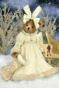 "LADY FLURRY Faux Mink Bearington Bear 16"" $39.99 New 2007 w/Tags Award Winner"