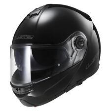 LS2 CASCO plegable para motocicleta con Parasol FF325 Strobe Negro Talla XL