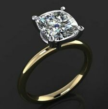 2.70Ct Round Cut Moissanite Diamond Rings Solid14k Yellow Gold Engagement rings