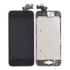 for iPhone 5 5g Black LCD Touch Screen Digitizer Replacement Home Button Camera