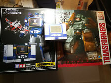 Transformers Official TAKARA MP-13 MP13 Soundwave w/Laserbeak Energon Cubes+MORE