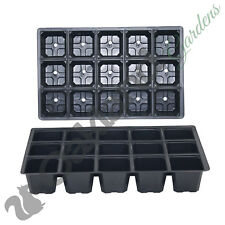 100 X Cell Full Size Seed Tray Inserts Plug Trays Bedding Plant Packs Plastic