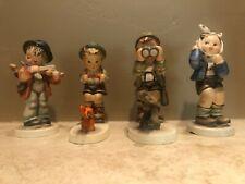 (4) Goebel Hummel Figurines - Fiddler, Hunter, Toothache - Condition Issues