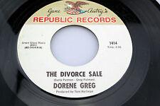 Dorene Greg: The Divorce Sale / Slow Poke  [VG++ Copy]