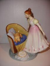 Vintage Royal Doulton figurine Beat you to it HN 2871 girl dog large excellent