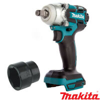"Makita DTW285Z 18V Brushless Impact Wrench With Impact Socket 30mm 1/2""Sq Drive"