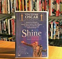 SHINE (1996) di Scott Hicks DVD COME NUOVO con Geoffrey Rush DRAMMATICO MUSICAL