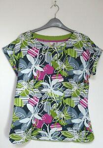 Weird Fish Sana Floral Printed Summer T Shirt - Size 8 - 22