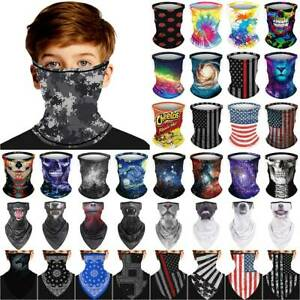 Kids Boys Girls Face Cover Mask Neck Tube Scarf Outdoor Snood Bandana Balaclava