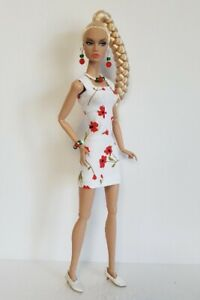 Poppy Parker Doll Clothes Summer DRESS and JEWELRY Handmade Fashion NO DOLL d4e