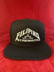 Filipino Flag Hat Philippines Pinoy Pinay Supreme Snapback Black White