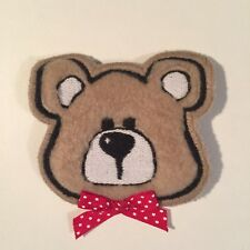 TEDDY BEAR RED BOW TIE PATCH