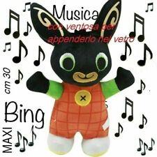 BING PELUCHE PUPAZZO MAX CONIGLIO BUNNY MUSICA SUONA CANTA 30 CM