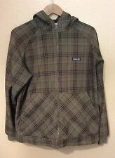 Patagonia Men's Hoodie Jacket Soft Shell Plaid Fleece Size Large