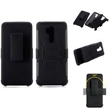 For LG G7, Shockproof Case w/ Belt Clip Anti-slip Armor Defender Grip Cover Skin