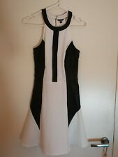 Guess black and white panel dress - size 2