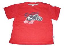 Tolles T-Shirt Gr. 80 rot mit Motorrad Motiv !!