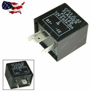 CF13 JL-02 3-Pin EP34 Flasher Relay Fix LED Bulb Light Hyper Flash Blink