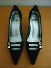 GORGEOUS WOMEN'S STUART WEITZMAN BLACK SATIN HEEL SHOES - SIZE 36 - RRP: $515