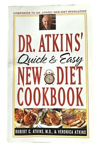 Dr Atkins Quick and Easy New Diet Cookbook Paperback Healthy Low Carb Recipes