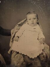 ANTIQUE AMERICAN HIDDEN MOTHER BABY BOY INFANT ARTISTIC BEAUTY TINTYPE PHOTO