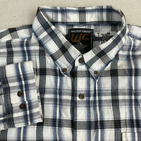 Walnut Creek Button Up Shirt Mens 2XL Gray Blue Long Sleeve Plaid Casual Shirt