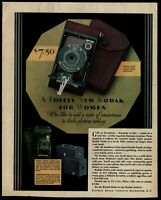 Kodak Eastman folding camera 1930 Color Saturday Evening Post Advertisement
