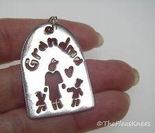 """Anni + Co """"GRANDMA"""" Sterling Silver Pendant"""