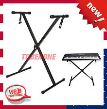 "Piano Keyboard ""X"" Stand Electric Organ Rack Folding Metal Height Adjustable TO"