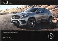 Mercedes GLE Coupe Preisliste 2016 2.5.16 D price list AMG 43 63 500 400 350d