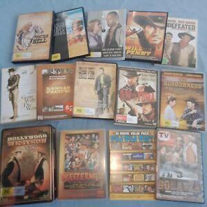 Bulk WESTERN DVD's Assorted Movie Bulk Packs Bundle Hollywood Westerns Exc Cond