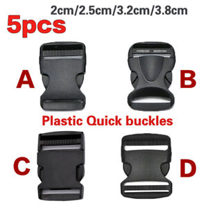 5pcs  Plastic Webbing Quick Buckle Side Release Clip for Quick Strapping Snaps