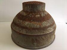 New listing Vtg Galvanized Steel Milk Funnel Strainer Funnel Farm House Barn Rustic Antique