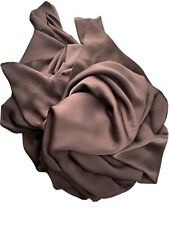 Nouvelle annonce PURE SOIE SATIN siffon en couleur chocolat Italien Tissu
