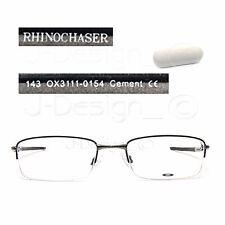 Oakley RHINOCHASER OX3111-0154 Cement 54/19/143 Half-Rimless Eyeglasses Rx - New