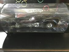 1 18 HOT WHEELS 1989 BAT-MOBILE BLACK CHROME SHOWCASE TUBE DISPLAY BATMAN MOVIE